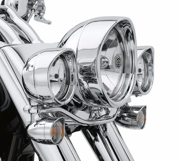 Visor Style Trim Ring Collection - Headlamp FL Softail