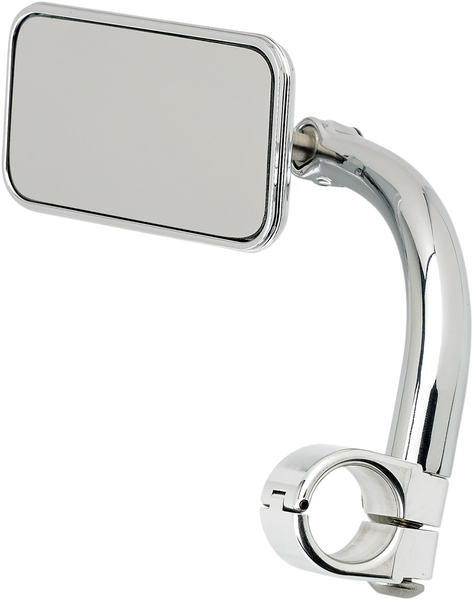 Biltwell Rectangular Mirror with Clamp-On Mount 7/8 Chrome