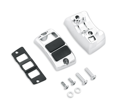 Chrome Auxiliary Accessory Switch Housing Kit