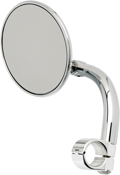 Biltwell Round Utility Mirror with Clamp-On Mount 7/8 Chrome