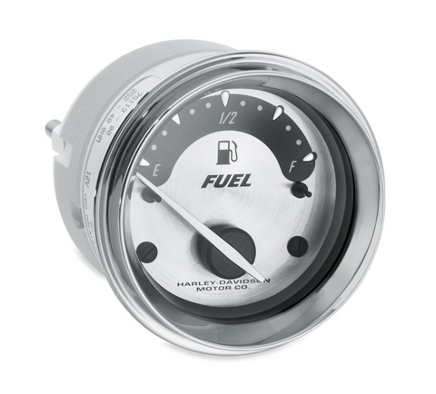 Fuel Gauge - Spun Aluminum Face