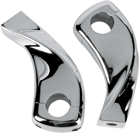 "Baron Pullback Extension Risers 1"" Chrome"