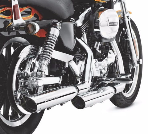 Screamin' Eagle Street Performance Slip-On Mufflers- Sportster Chrome