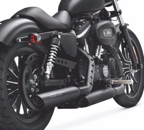 Screamin' Eagle Street Performance Sportster Shorty Dual Mufflers Jet Black