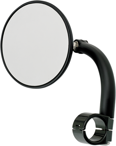 Biltwell Round Utility Mirror with Clamp-On Mount 7/8 Black