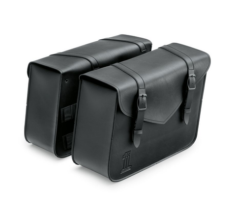 Black Standard Line Large Throw-Over Saddlebags