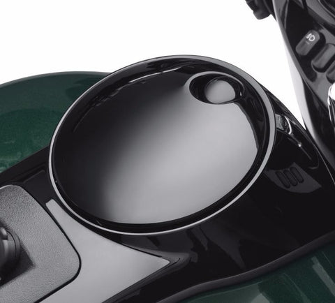 Smooth Push-Button Fuel Tank Console Door Release - Gloss Black