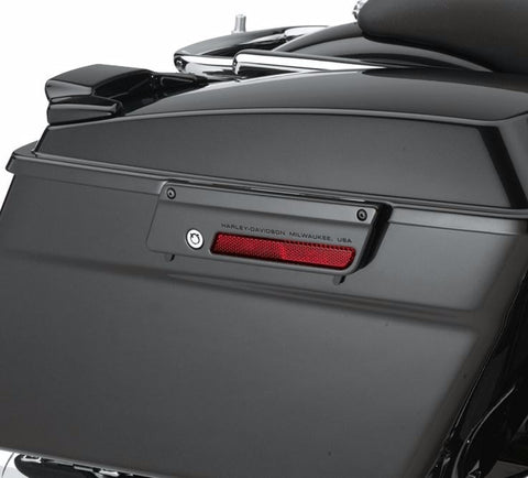 Saddlebag Latch Plate - Vivid Black - Left Side