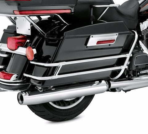 Twin Rail Chrome Saddlebag Guard Kit '09-Later