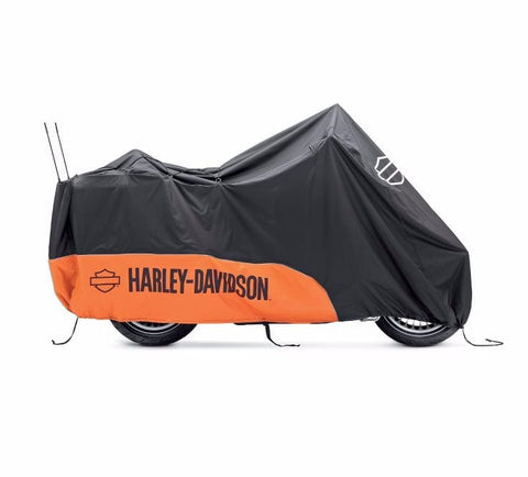 Indoor/Outdoor Motorcycle Cover Touring Orange/Black