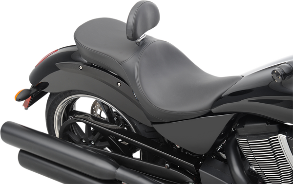 Drag Specialties Low Profile Touring Seat with Backrest Option Vegas Smooth Stitch