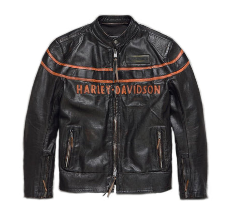 Men's Double Ton Slim Fit Leather Jacket