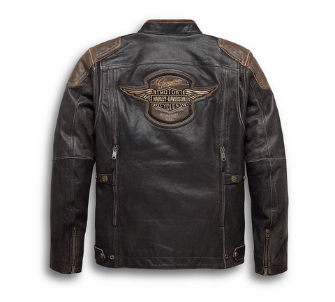 Men's H-D Triple Vent System Trostel Leather Jacket