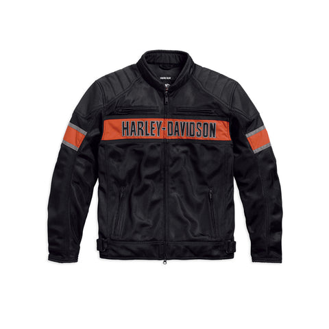Men's Skull Mesh Riding Jacket