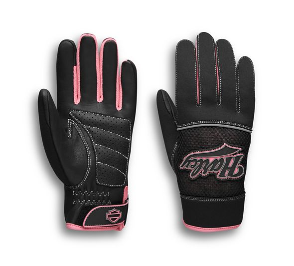 Women's Pink Label Mixed Media Gloves