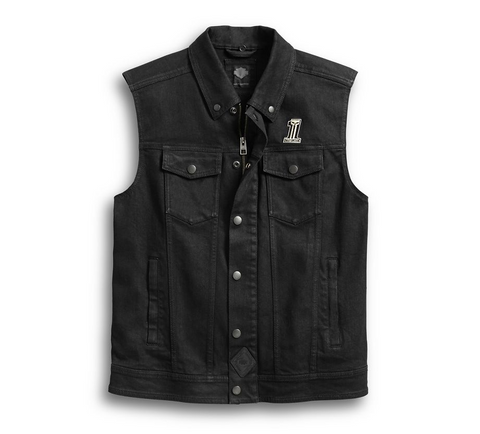 Men's 3-in-1 Denim Slim Fit Riding Vest