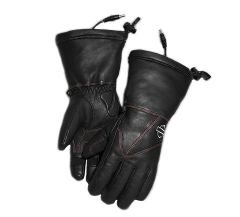 Women's Heated BTC 12V Waterproof Leather Gauntlet Gloves