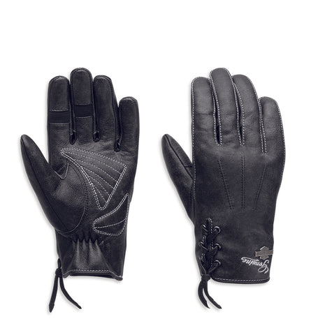 Swingback Distressed Full-Finger Gloves