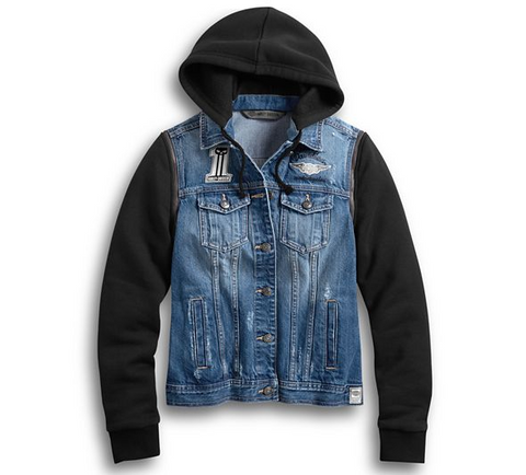 Women's Zip-Off Sleeve Denim Jacket