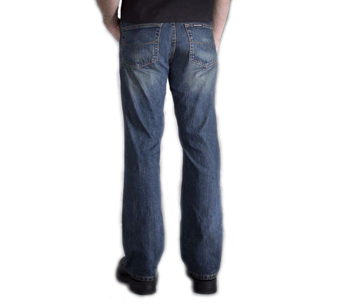 Men's Classic Bootcut Jeans - Washed Blue