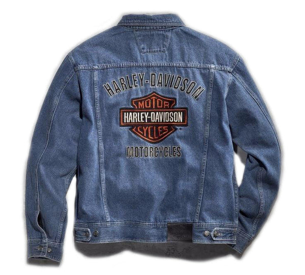 6c109adb6630 Harley-Davidson® Men's Bar & Shield Logo Denim Jacket