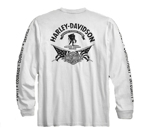b2c445cb5c34 ... Men s Harley-Davidson® Wounded Warrior Project® Long Sleeve Stars    Stripes Tee