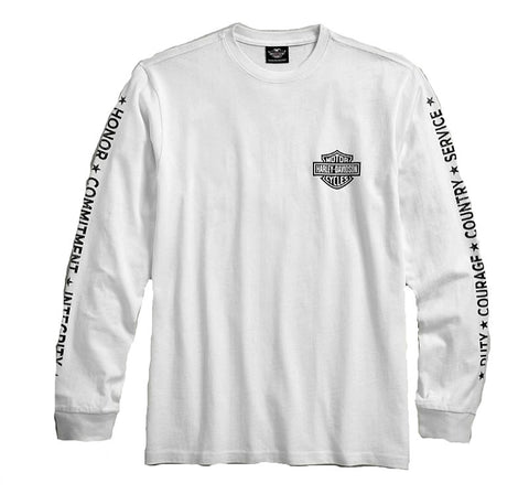 Men's Harley-Davidson® Wounded Warrior Project® Long Sleeve Stars & Stripes Tee