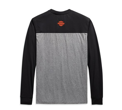 Men's Performance Micro Mesh Long Sleeve Colorblock Tee