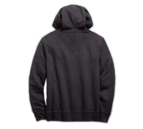 Men's Felt Patch Slim Fit Pullover Hoodie