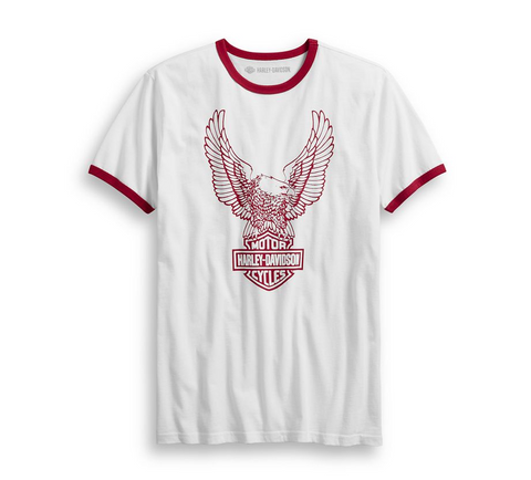 Men's Retro Eagle Logo Slim Fit Tee