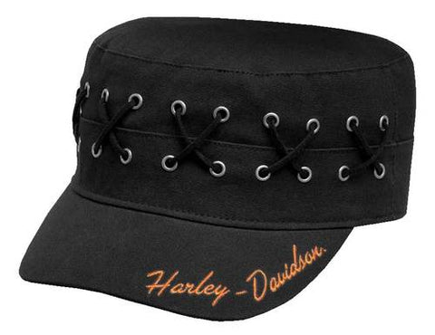 Women's Laced & Eyelet Flat Top Cap