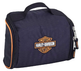 Bar & Shield Fabric Toiletry Bag - Black