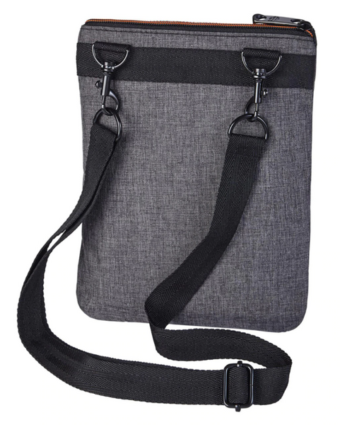 Women's Heather Gray Crossbody Sling Purse