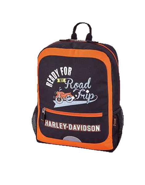 Kids' Ready For My Road Trip Backpack - Rust/Black
