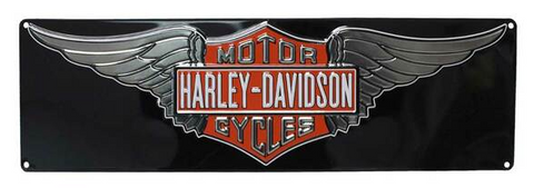 Embossed Winged Bar & Shield Tin Sign