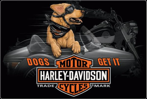 Harley-Davidson Side Dog Sign