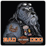 Harley-Davidson Bad Dog Bar & Shield Embossed Tin Sign