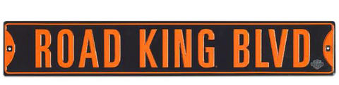 Road King Embossed Tin Street Sign