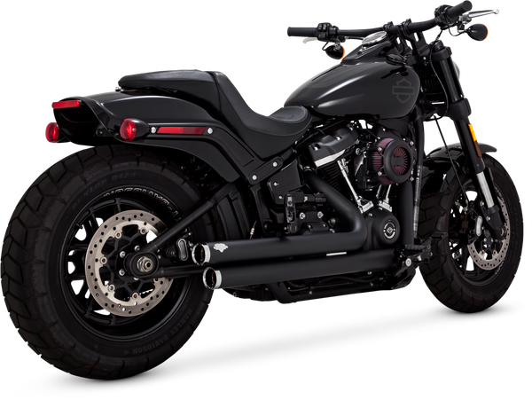 Vance & Hines Big Shot Staggered Mufflers - Black