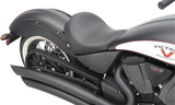 Drag Specialties Solo Seat with Backrest Option Vegas Smooth