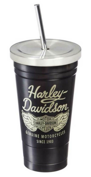 Heritage Stainless Steel Insulated Cup with Straw - 16 oz