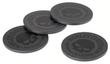 Willie G Skull Stone Coaster Set - 4 Pack