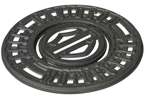 Bar & Shield Logo Durable Cast Iron Trivet with Removable Coaster