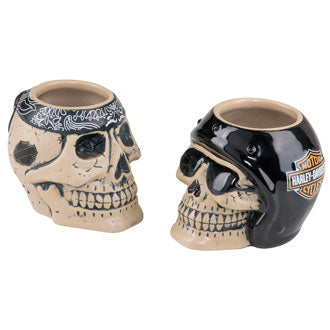 Harley-Davidson Skull Rider Shot Glass Set