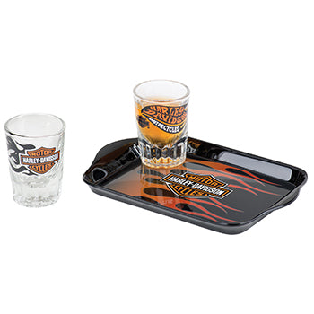 Harley-Davidson Flames Shot Glass Set