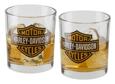 Harley-Davidson Oil Can Flask & Shot Glass Set