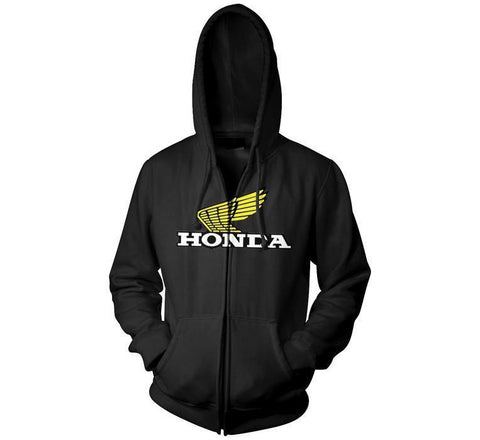 Honda Official Licensed Products Men's Wing Logo Zip Hoody