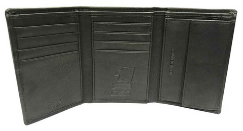 Men's Currency & Coin Leather Tri-Fold Wallet
