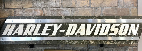 Harley-Davidson Wood Sign - Metal Accents