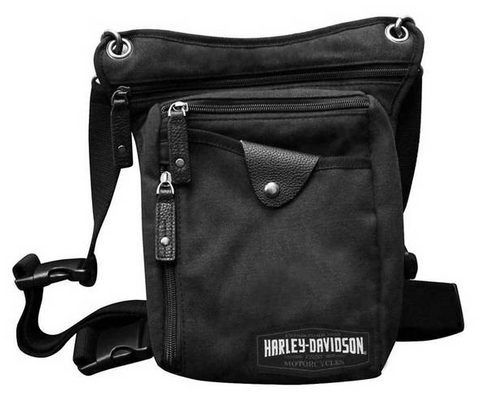 C4 Convertible Leg Waist Pack & Crossbody Bag - Black Canvas